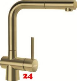 SCHOCK Küchenarmatur Laios SB White Gold Einhebelmischer Oberfläche: Goldfarben mit Zugauslauf