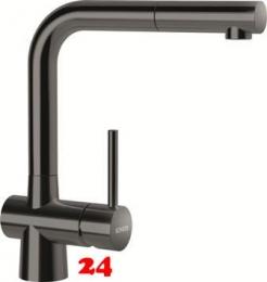 SCHOCK Küchenarmatur Laios SB Gunmetal Einhebelmischer Oberfläche: Schwarz glänzend mit Zugauslauf