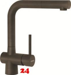 SCHOCK Küchenarmatur Laios Cristadur® Classic Line Einhebelmischer Zugauslauf 360° schwenkbarer Auslauf mit Schlauchbrause in 8 Farben