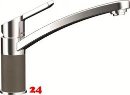 SCHOCK Küchenarmatur SC-90 Cristalite® Golden Line Einhebelmischer Festauslauf 360° schwenkbarer Auslauf mit Materialhülse in 4 Farben