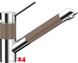 {Lager} SCHOCK Küchenarmatur SC-200-SB Cristadur® Classic Line Einhebelmischer Zugauslauf 120° schwenkbarer Auslauf mit Materialhülse und Schlauchbrause Farbe Earth