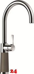 SCHOCK Küchenarmatur SC-520 Cristalite® Golden Line Einhebelmischer Festauslauf 360° schwenkbarer Auslauf mit Materialhülse in 4 Farben