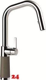 SCHOCK Küchenarmatur SC-530 Cristalite® Golden Line Einhebelmischer Zugauslauf 120° schwenkbarer Auslauf mit Materialhülse und Schlauchbrause in 4 Farben