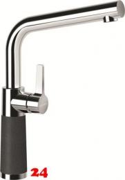 SCHOCK Küchenarmatur SC-540 Cristalite® Golden Line Einhebelmischer Festauslauf 360° schwenkbarer Auslauf mit Materialhülse in 4 Farben