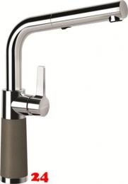 SCHOCK Küchenarmatur SC-540 Cristalite® Golden Line Einhebelmischer Zugauslauf 120° schwenkbarer Auslauf mit Materialhülse und Schlauchbrause in 4 Farben