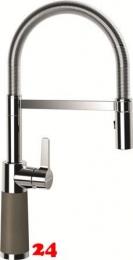 SCHOCK Küchenarmatur SC-550 Cristalite® Golden Line Einhebelmischer Festauslauf 150° schwenkbarer Auslauf mit Materialhülse und Pendelbrause in 4 Farben