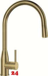 SCHOCK Küchenarmatur Kavus-SB White Gold Einhebelmischer Oberfläche: Goldfarben mit Zugauslauf