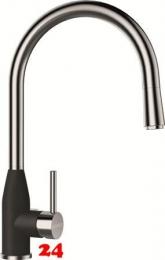 SCHOCK Küchenarmatur Kavus Cristalite® Basic Line Einhebelmischer Zugauslauf 360° schwenkbarer Auslauf mit Schlauchbrause in 2 Farben