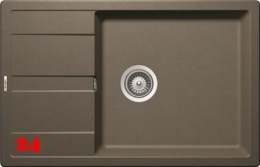 SCHOCK Küchenspüle Manhattan D-100LS Cristalite® Golden Line Granitspüle / Einbauspüle in 4 Farben mit Drehexcenter