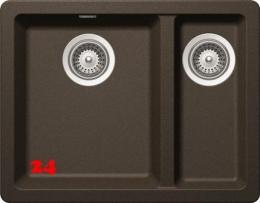SCHOCK Greenwich N-150 Cristadur® Nano-Granitspüle / Einbauspüle in 4 Farben mit Drehexcenter
