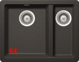 SCHOCK Greenwich N-150-UB Cristadur® Nano-Granitspüle / Unterbauspüle in 4 Farben mit Drehexcenter