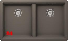 SCHOCK Doppelbecken Greenwich N-200 Cristadur® Nano-Granitspüle / Einbauspüle in 4 Farben mit Drehexcenter