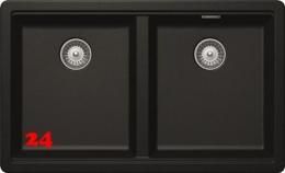 SCHOCK Doppelbecken Greenwich N-200-U Cristadur® Nano-Granitspüle / Unterbauspüle in 4 Farben mit Drehexcenter