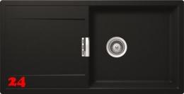 {Lager} SCHOCK Küchenspüle Mono D-100L Cristadur® Nano-Granitspüle / Einbauspüle Farbe Puro mit Drehexcenter