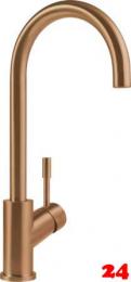 Villeroy & Boch Küchenarmatur Umbrella Einhebelmischer Bronzefarben mit Festauslauf
