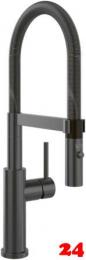 Villeroy & Boch Küchenarmatur Steel Expert Einhebelmischer Anthracite mit Pendelbrause