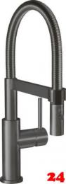Villeroy & Boch Küchenarmatur Steel Expert Compact Einhebelmischer Anthracite mit Pendelbrause