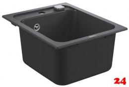 Grohe Spülbecken K700 50-C 40-50 1.0 Granitspüle / Einbauspüle in Farbe Schwarz mit Excenter (31650AP0)