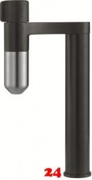 FRANKE Armatur Standalone Vital Schwarz matt / Edelstahloptik 3-Stufen Kapsel Trinkwasserfiltersystem