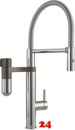 FRANKE Vital Semi Pro Einhebelmischer Pendelbrause mit 3-Stufen Kapsel Trinkwasserfiltersystem
