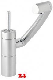 DAMIXA Küchenarmatur ARC Edelstahloptik Einhebelmischer 360° Drehung der 3 Achsen