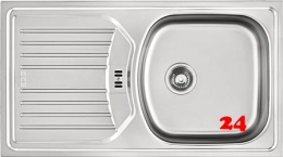 FRANKE Küchenspüle Eurostar ETN 614 Nova Einbauspüle mit Siebkorb als Stopfenventil