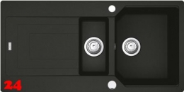 x FRANKE Küchenspüle Urban UBG 651 Fragranit+ Einbauspüle / Granitspüle Flächenbündig mit Drehknopfventil