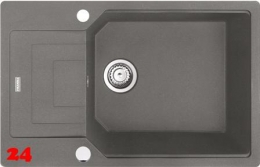 x FRANKE Küchenspüle Urban UBG 611-78 XL Fragranit+ Einbauspüle / Granitspüle Flächenbündig mit Drehknopfventil
