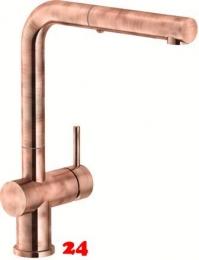FRANKE Küchenarmatur Active Plus Einhebelmischer Copper mit Zugauslauf als Schlauchbrause