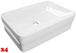 FRANKE QUADROtop Aufsatzwaschtisch ANMT4001 Waschtisch MIRANIT Montage auf Waschtischplatte ohne Überlauf