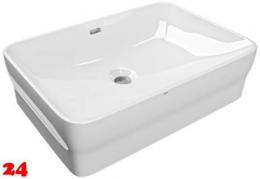 FRANKE QUADROtop Aufsatzwaschtisch ANMT4002 Waschtisch MIRANIT Montage auf Waschtischplatte