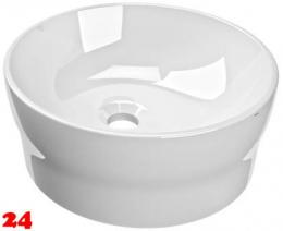 FRANKE RONDAtop Aufsatzwaschtisch ANMT2001 Waschtisch MIRANIT Montage auf Waschtischplatte ohne Überlauf