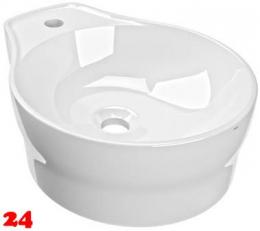 FRANKE RONDAtop Aufsatzwaschtisch ANMT2002 Waschtisch MIRANIT Montage auf Waschtischplatte ohne Überlauf