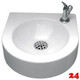 FRANKE Sirius Trinkbrunnen SIRW240 für Wandmontage aus MIRANIT inklusive Druckknopf-Trinksprudler