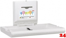 FRANKE CAMBRINO Baby-Wickeltisch horizontal CAMB10HP für die Wandmontage und klappbar
