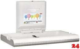 FRANKE CAMBRINO Baby-Wickeltisch horizontal CAMB11HS für die Wandmontage und klappbar