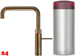 QUOOKER FUSION Square Combi Einhebelmischer Messing Patina & 100°C Armatur Kochendwasserhahn (22FSPTN)