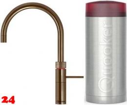QUOOKER FUSION Round Combi Einhebelmischer Messing Patina & 100°C Armatur Kochendwasserhahn (22FRPTN)