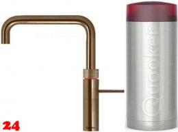QUOOKER FUSION Square Combi(+) Einhebelmischer Messing Patina & 100°C Armatur Kochendwasserhahn (22+FSPTN)