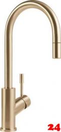 Villeroy & Boch Küchenarmatur Umbrella Flex Einhebelmischer Goldfarben mit Zugauslauf