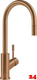 Villeroy & Boch Küchenarmatur Umbrella Flex Einhebelmischer Bronzefarben mit Zugauslauf