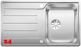 BLANCO Küchenspüle Classimo 45 S-IF Edelstahlspüle / Einbauspüle Flachrand mit Ablaufsystem InFino und PushControl