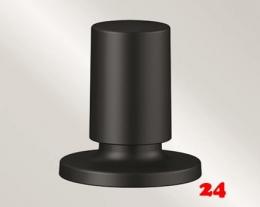 BLANCO Zugknopf rund Sonderfarbe Schwarz matt passend InFino® und Standard Ablauf