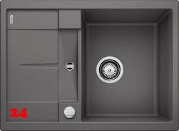{Lager} BLANCO Küchenspüle Metra 45 S Compact Silgranit® PuraDur®II Granitspüle / Einbauspüle Farbe Felsgrau