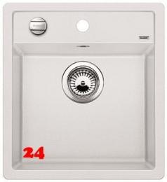 {Lager} BLANCO Küchenspüle Dalago 45 Silgranit® PuraDur®II Granitspüle / Einbauspüle Farbe Weiss