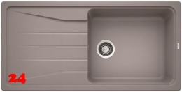 {Lager} BLANCO Küchenspüle Sona XL 6 S Silgranit® PuraDur®II Granitspüle / Einbauspüle Farbe Alumetallic
