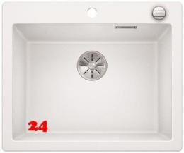 {Lager} BLANCO Küchenspüle Pleon 6 Silgranit® PuraDur®II Granitspüle / Einbauspüle Farbe Weiss