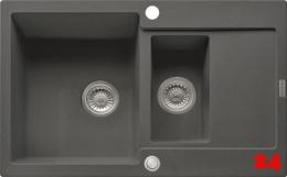 {Lager} FRANKE Küchenspüle Maris MRG 651-78 Fragranit+ Einbauspüle / Granitspüle mit Druckknopfventil Farbe Graphit