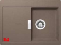 {Lager} SCHOCK Horizont D 100S Cristadur® Nano-Granitspüle / Einbauspüle mit Drehexcenter Farbe Earth