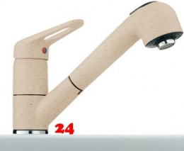 {Lager} FRANKE Küchenarmatur BAT 741 Fragranit+ Einhebelmischer mit Zugauslauf Farbe Beige Niederdruck